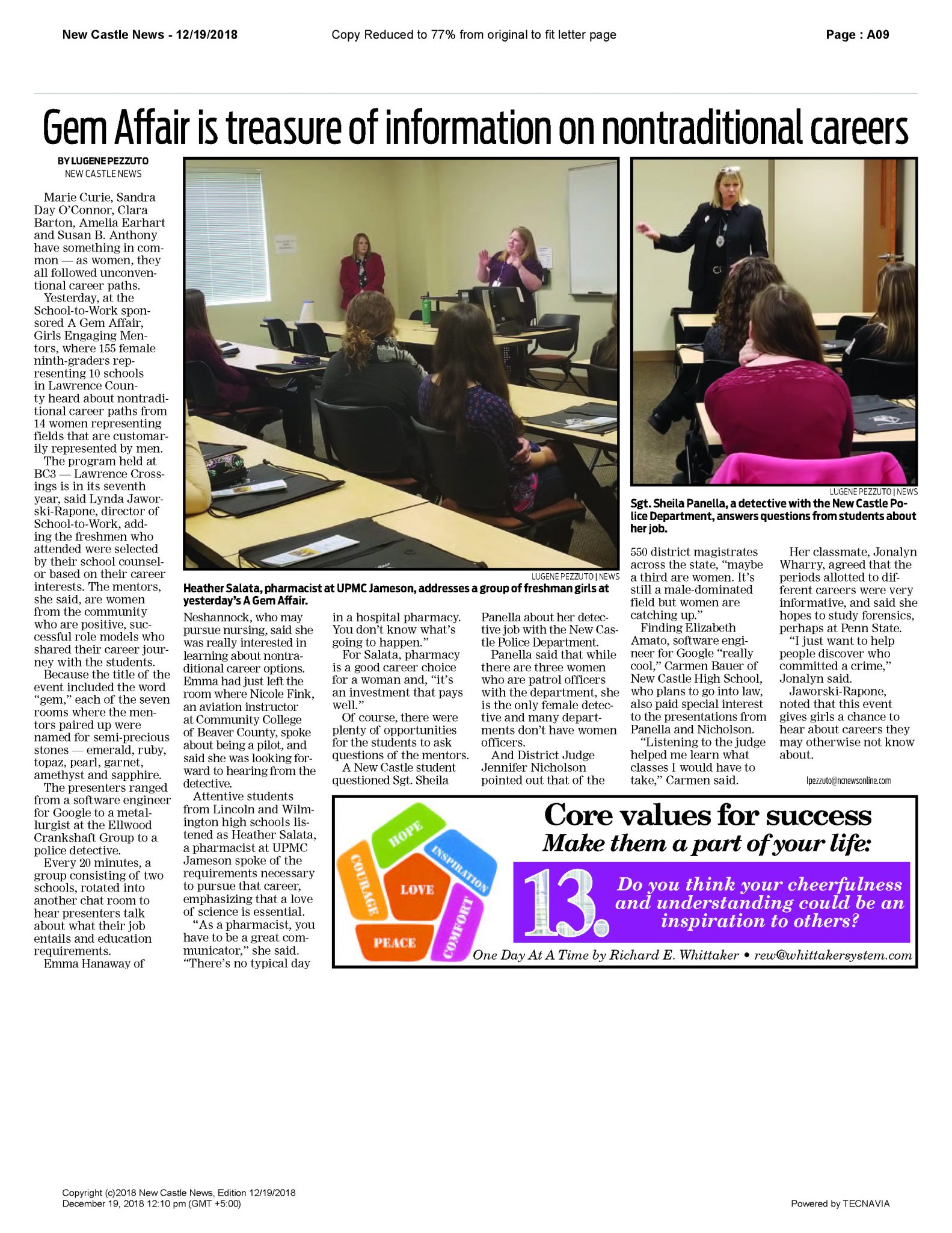 GEM 2018 – Newsarticle – New Castle News 12-19-2018